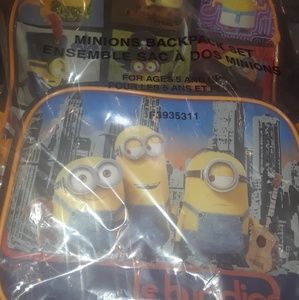 Minion Backpack w/ lunchbox & pencil case